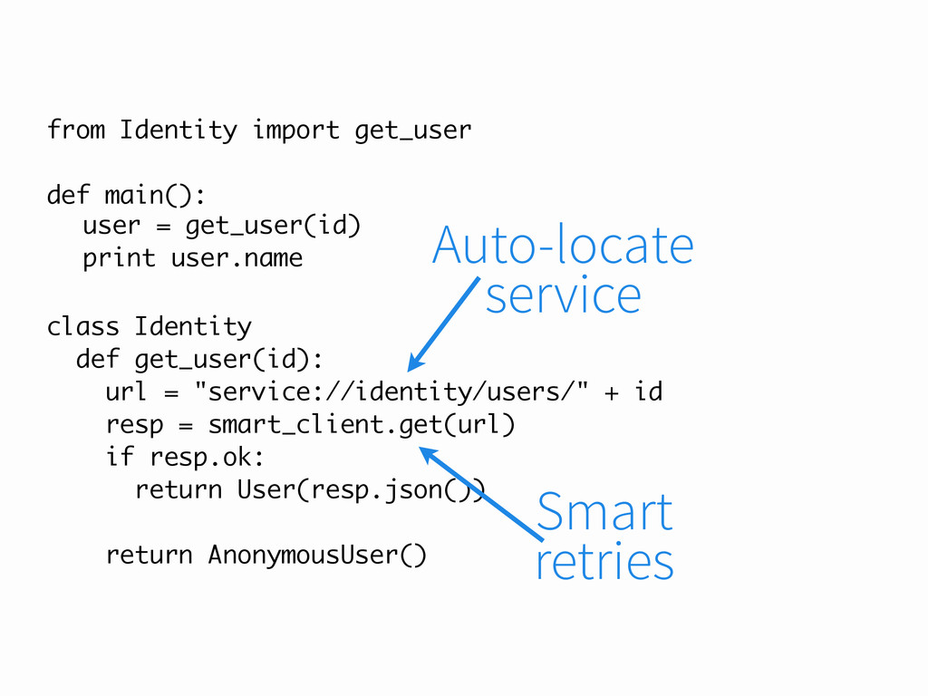 "class Identity def get_user(id): url = ""service..."