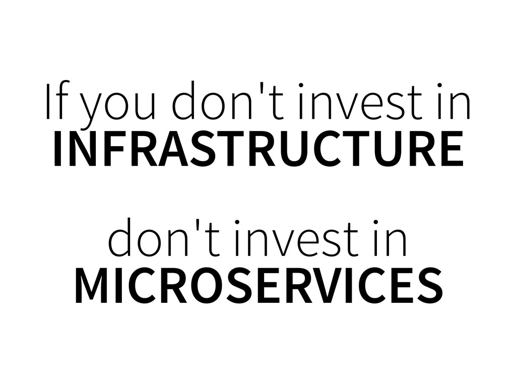 If you don't invest in INFRASTRUCTURE don't inv...