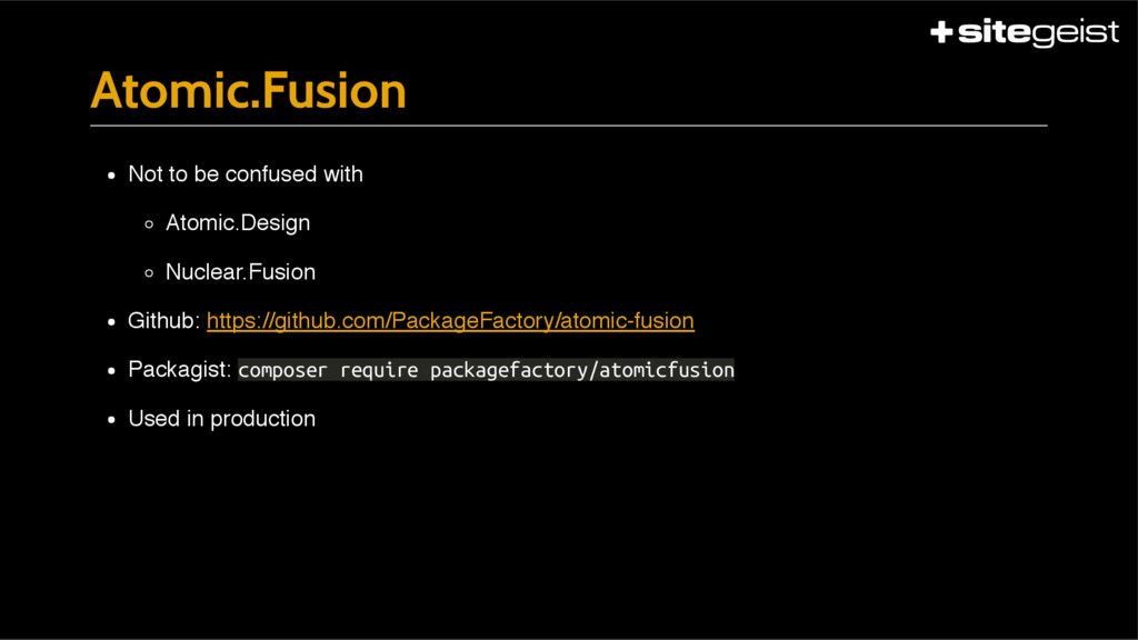 Atomic.Fusion Not to be confused with Atomic.De...
