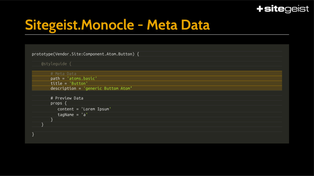 Sitegeist.Monocle - Meta Data prototype(Vendor....