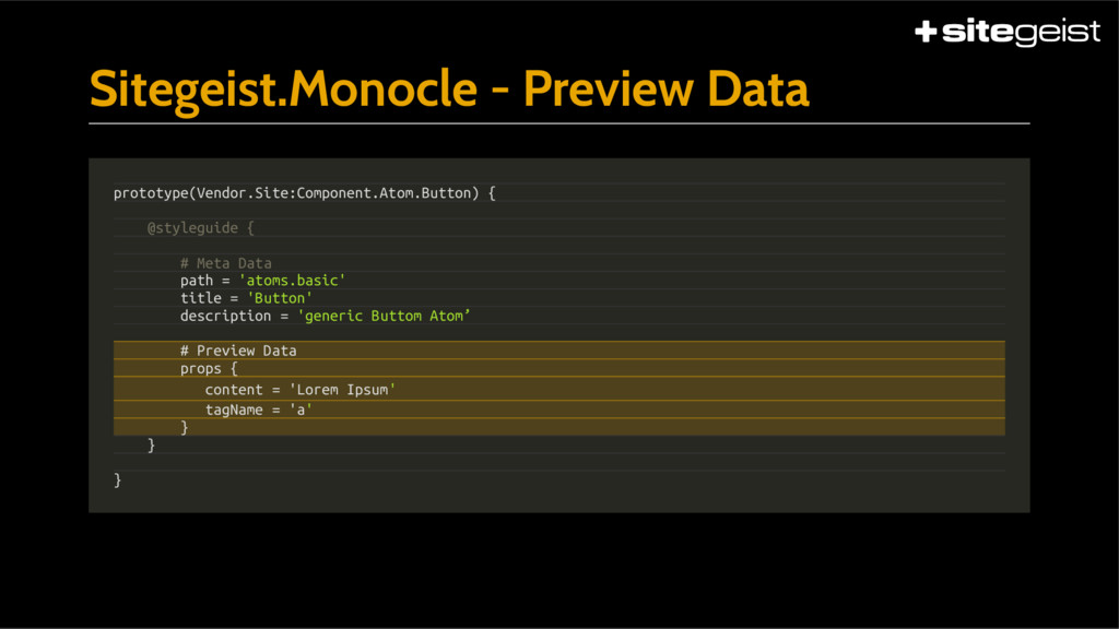 Sitegeist.Monocle - Preview Data prototype(Vend...