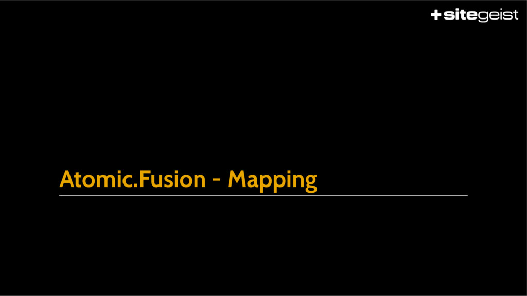 Atomic.Fusion - Mapping