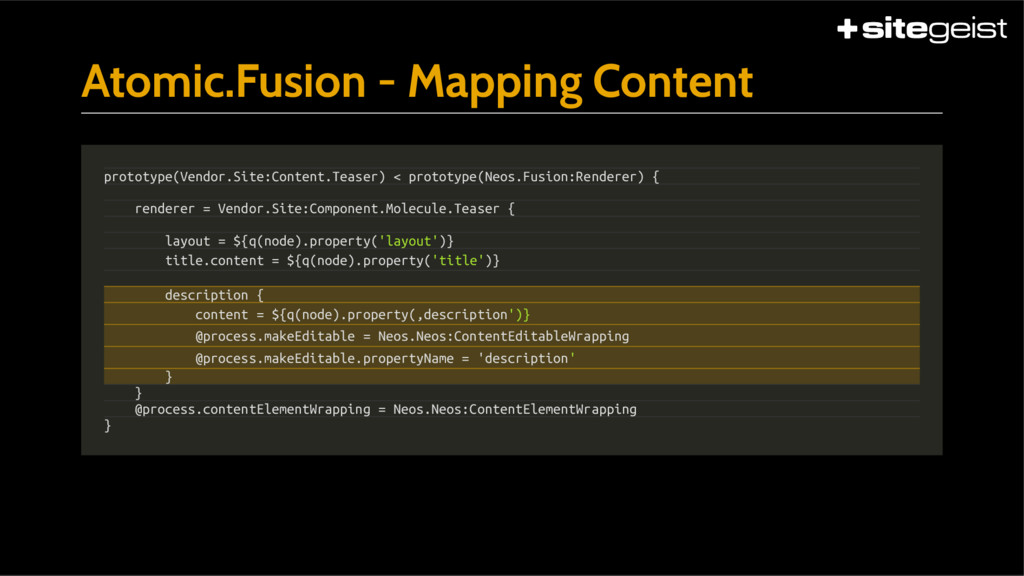 Atomic.Fusion - Mapping Content prototype(Vendo...