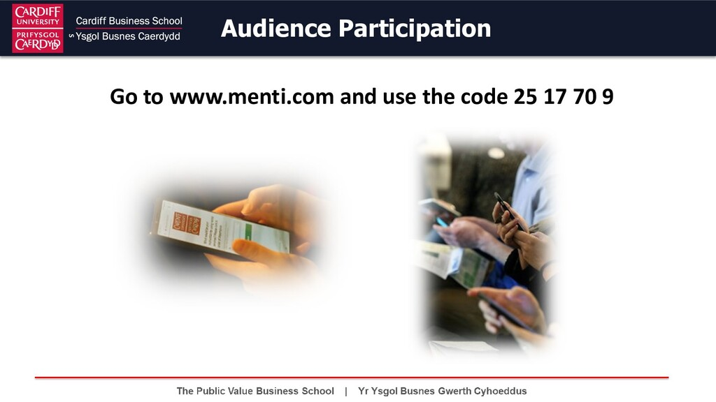 Audience Participation Go to www.menti.com and ...