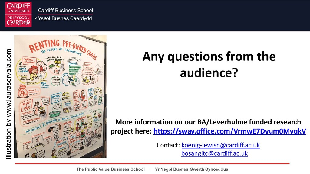 Any questions from the audience? Illustration b...