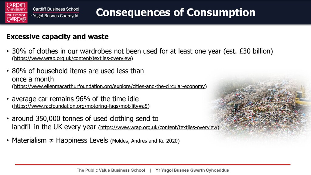 Consequences of Consumption Excessive capacity ...