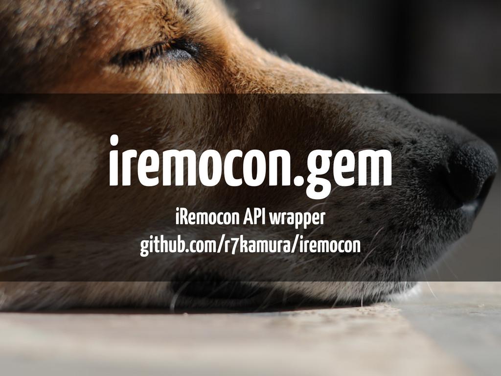 iremocon.gem iRemocon API wrapper github.com/r7...