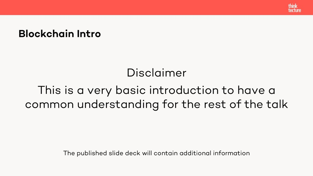 Disclaimer This is a very basic introduction to...