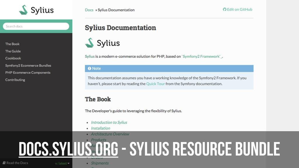 DOCS.sylius.org - Sylius Resource Bundle