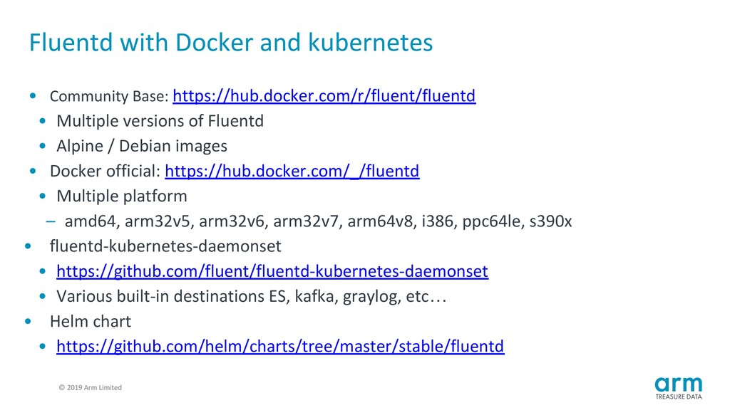 © 2019 Arm Limited Fluentd with Docker and kube...