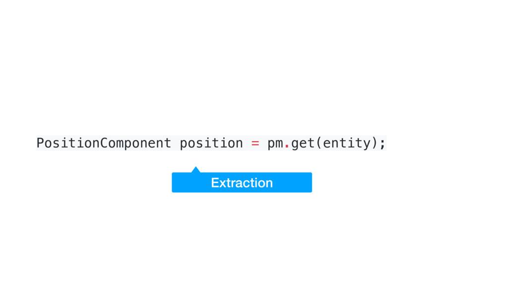 PositionComponent position = pm.get(entity); Ex...