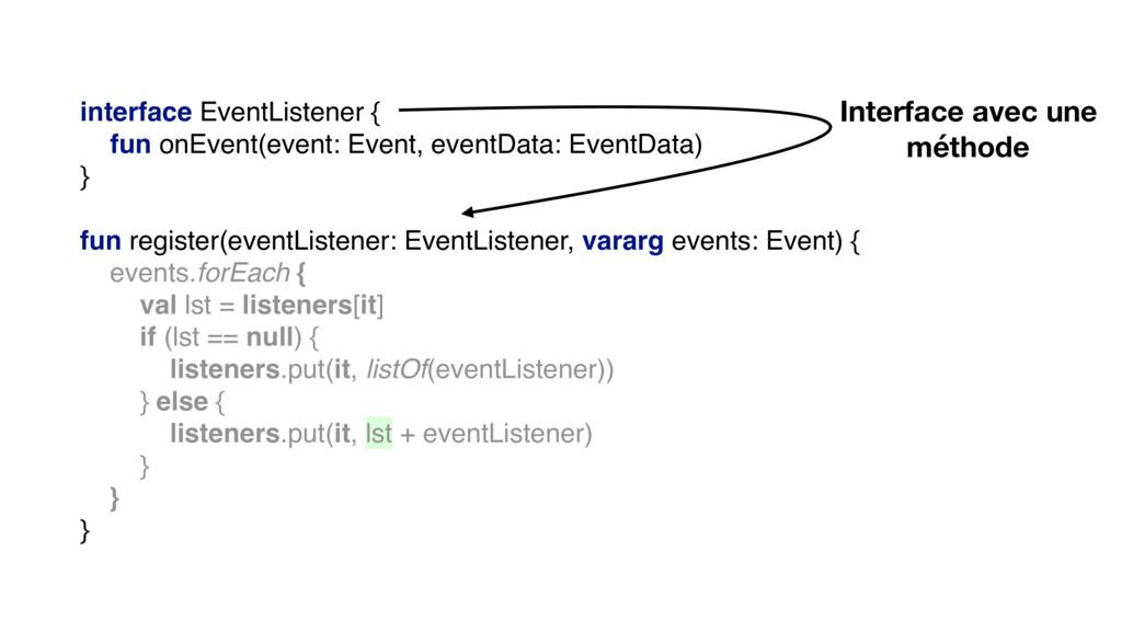 interface EventListener { fun onEvent(event: Ev...