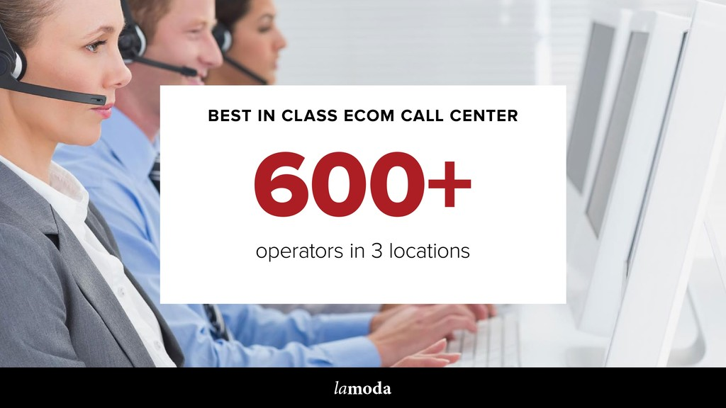 BEST IN CLASS ECOM CALL CENTER 600+ operators i...