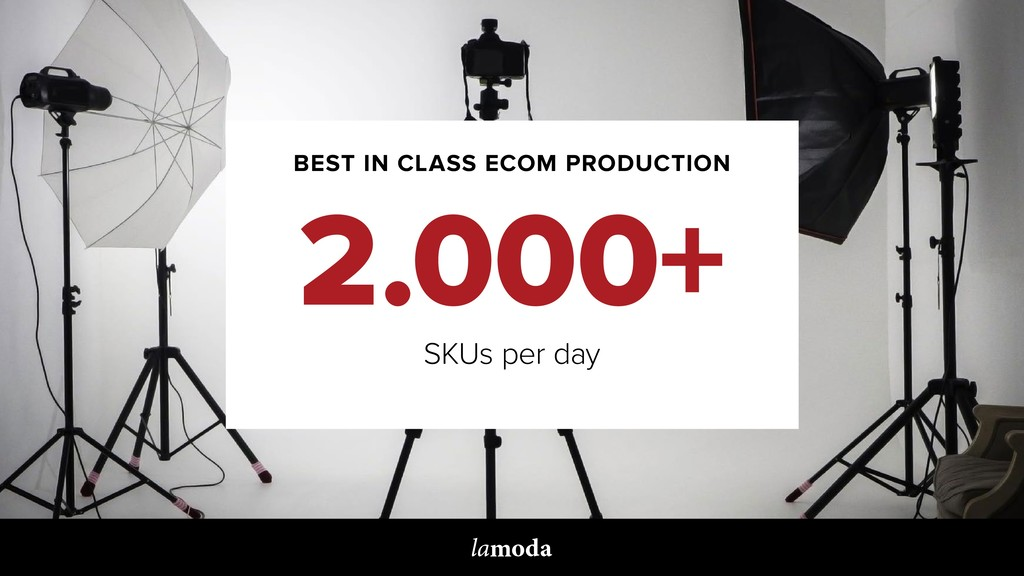 BEST IN CLASS ECOM PRODUCTION 2.000+ SKUs per d...