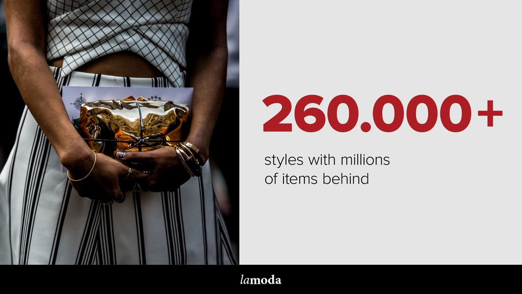 260.000+ styles with millions of items behind