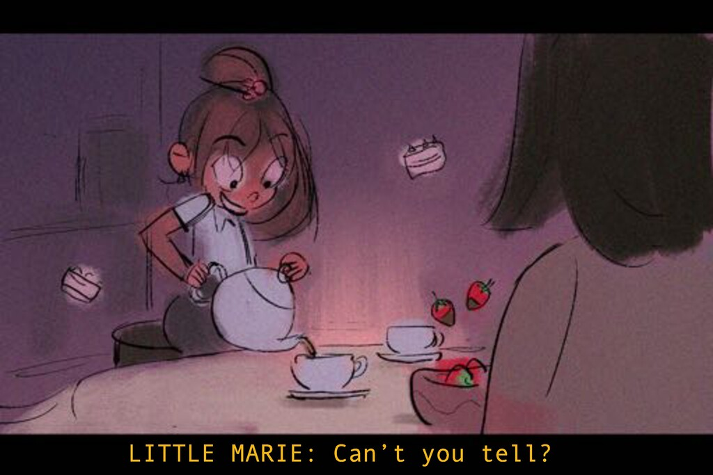 LITTLE MARIE: Can't you tell?