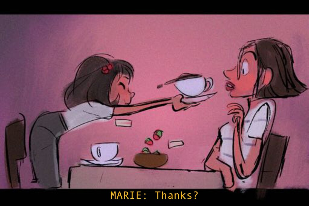 MARIE: Thanks?