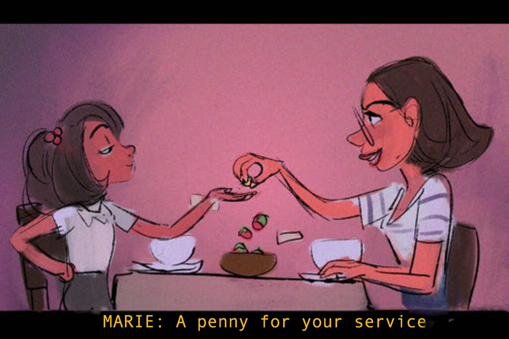 MARIE: A penny for your service