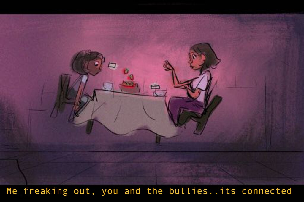 Me freaking out, you and the bullies..its conne...