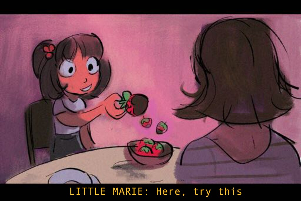 LITTLE MARIE: Here, try this