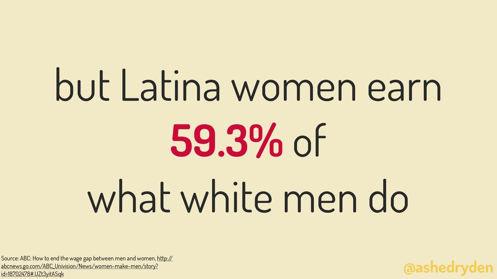 @ashedryden but Latina women earn 59.3% of what...