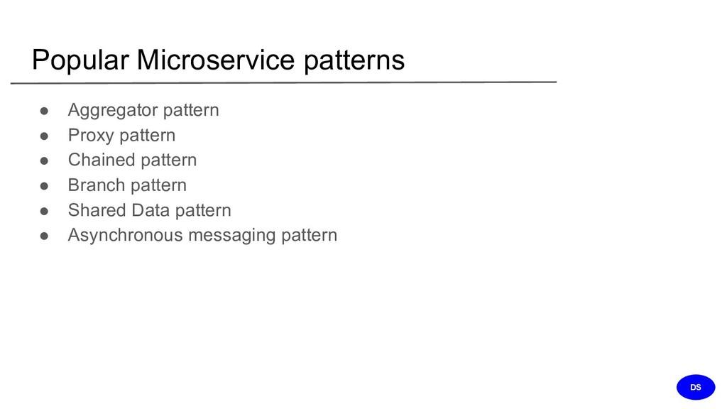 Popular Microservice patterns ● Aggregator patt...