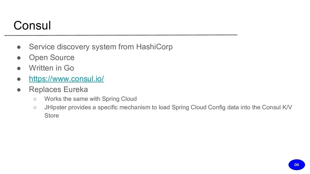 Consul ● Service discovery system from HashiCor...