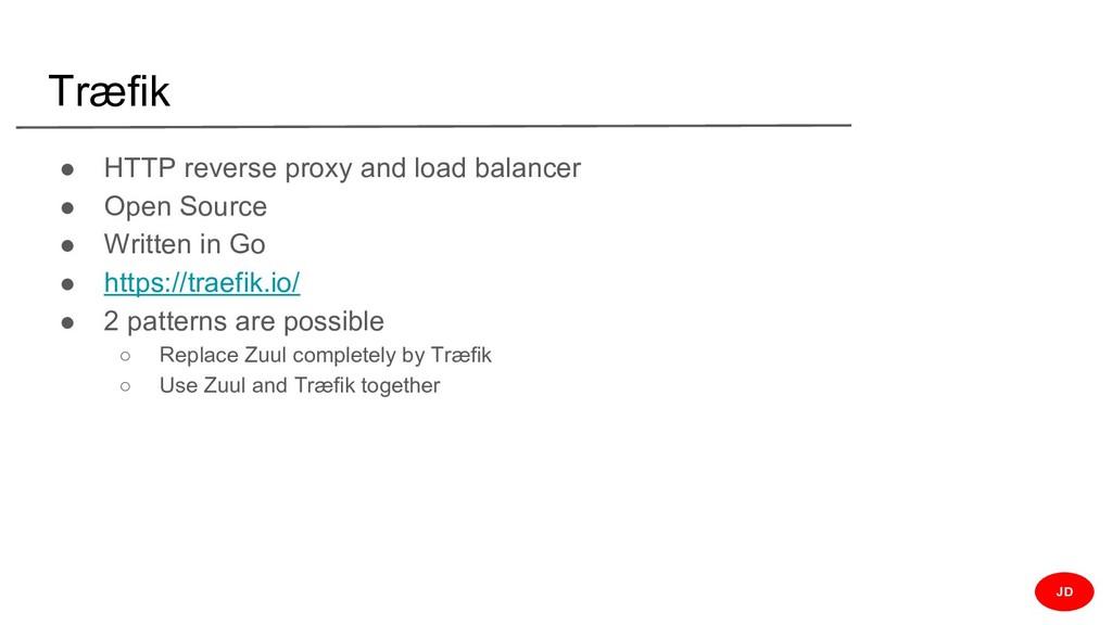 Træfik ● HTTP reverse proxy and load balancer ●...
