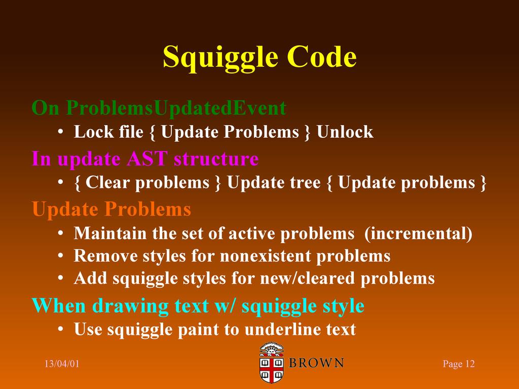 Squiggle Code On ProblemsUpdatedEvent • Lock f...