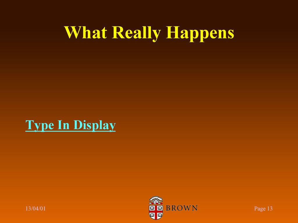 What Really Happens Type In Display 13/04/01 Pa...