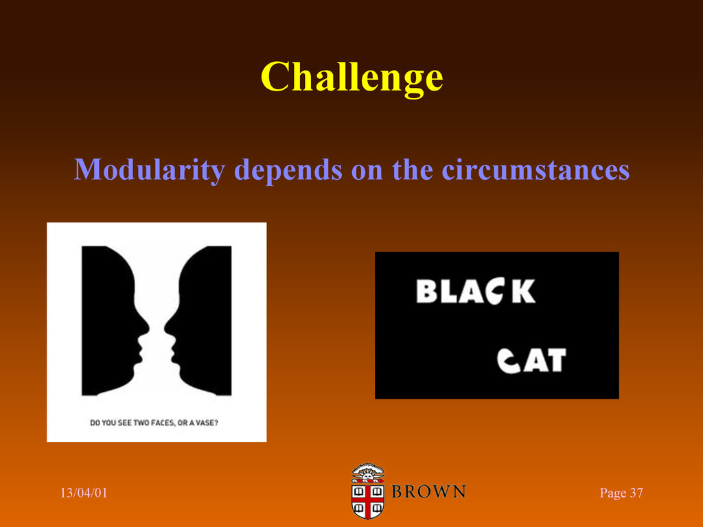 Challenge Modularity depends on the circumstanc...