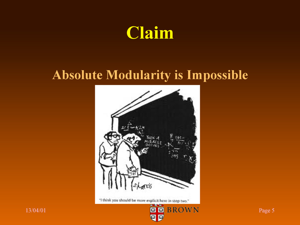 Claim Absolute Modularity is Impossible 13/04/0...