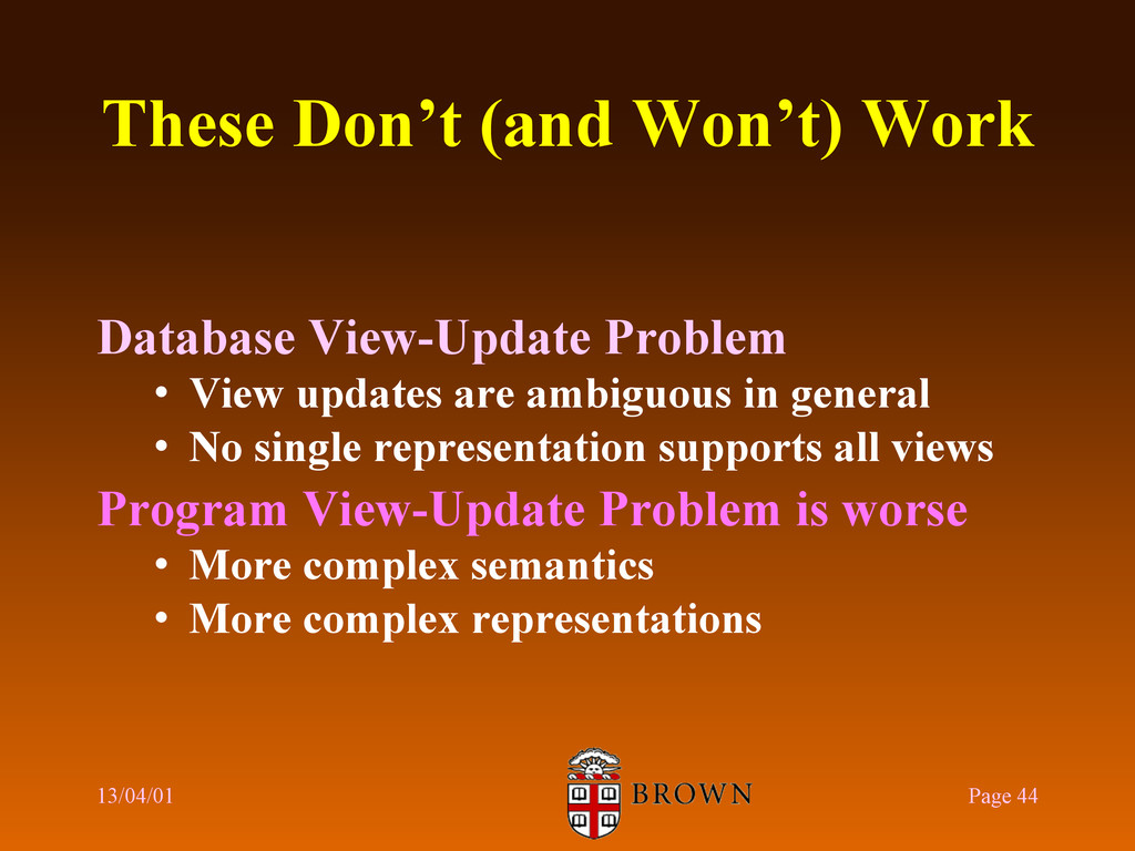 These Don't (and Won't) Work Database View-Upda...