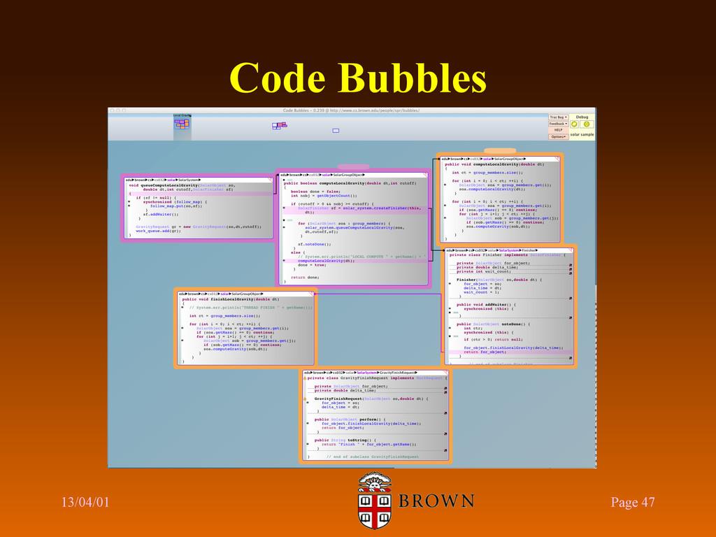 Code Bubbles 13/04/01 Page 47