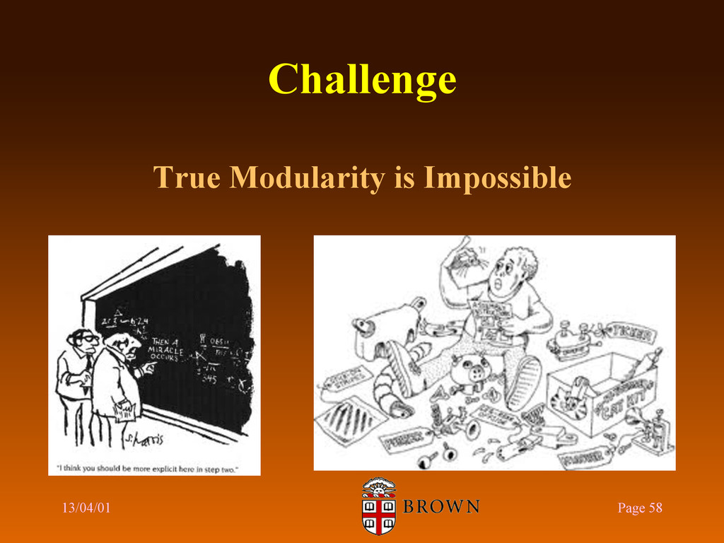 Challenge True Modularity is Impossible 13/04/0...