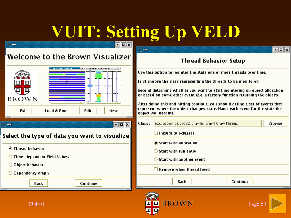 VUIT: Setting Up VELD 13/04/01 Page 69