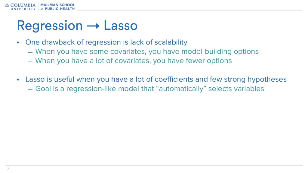 7 Regression → Lasso • One drawback of regressi...