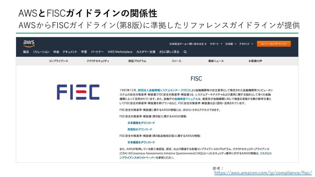 AWSからFISCガイドライン(第8版)に準拠したリファレンスガイドラインが提供 AWSとFI...