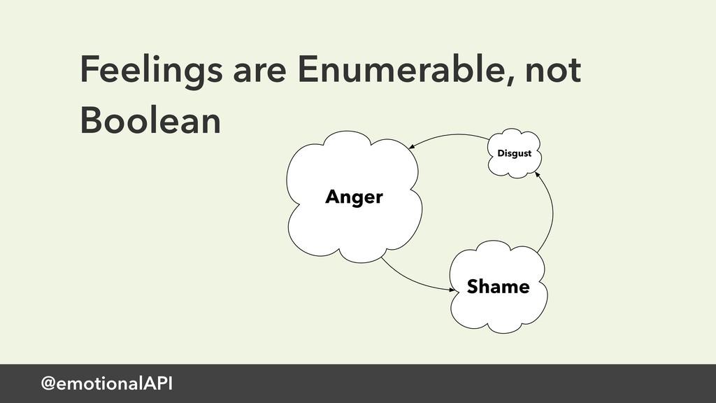 @emotionalAPI Feelings are Enumerable, not Bool...