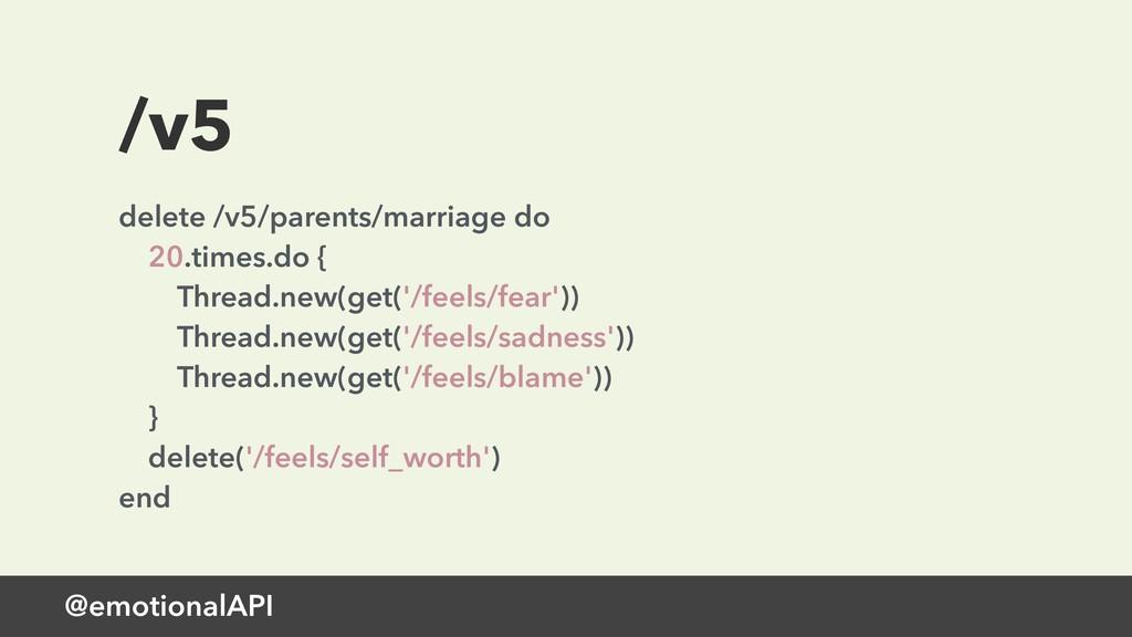 @emotionalAPI /v5 delete /v5/parents/marriage d...