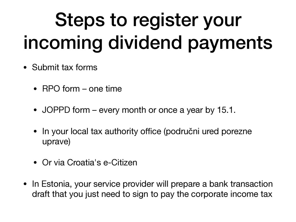 Steps to register your incoming dividend paymen...