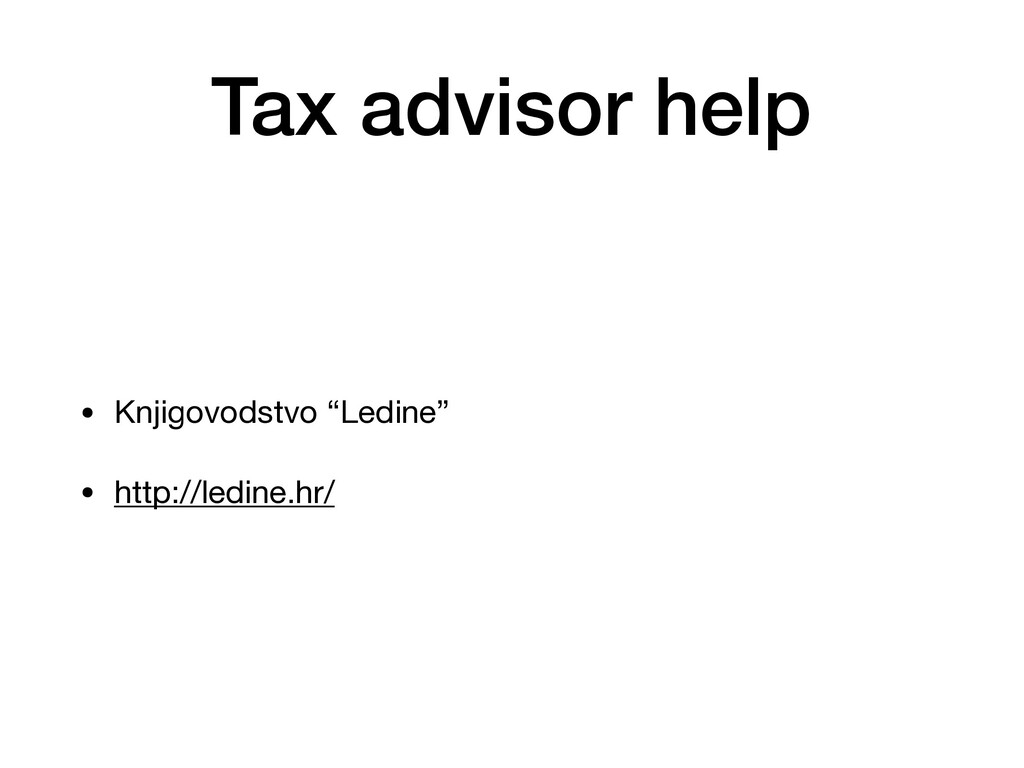 "Tax advisor help • Knjigovodstvo ""Ledine""  • ht..."
