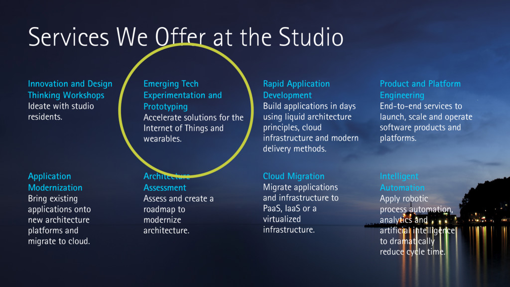 Services We Offer at the Studio Application Mod...