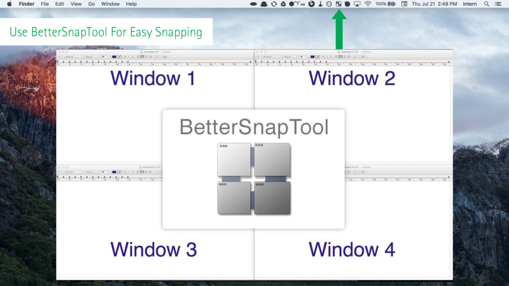 Use BetterSnapTool For Easy Snapping