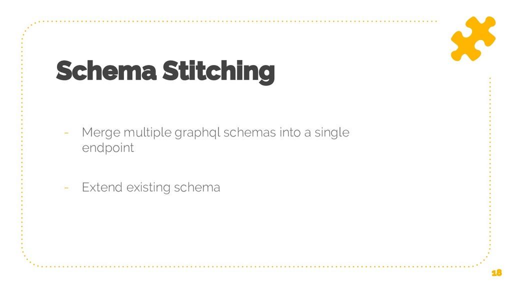 Schema Stitching - Merge multiple graphql schem...