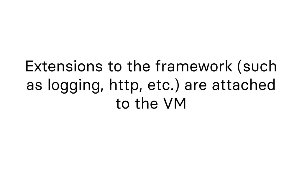 Extensions to the framework (such as logging, h...