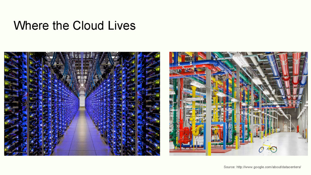 Where the Cloud Lives Source: http://www.google...