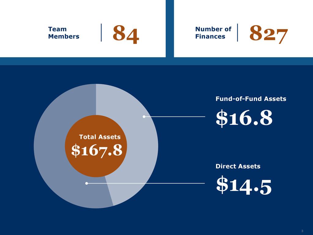 3 Team Members 84 Number of Finances 827 Total ...