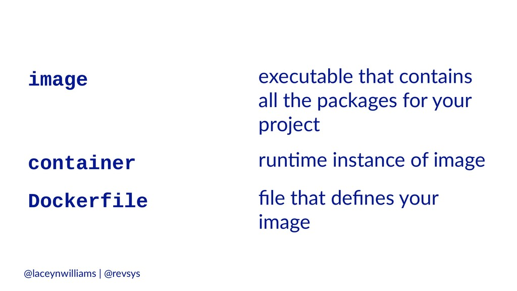 image executable that contains all the packages...