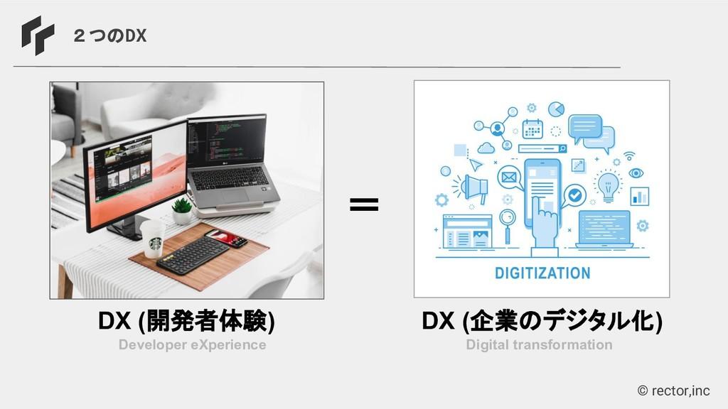 © rector,inc 2つのDX Developer eXperience DX (開発者...